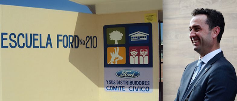 Salvador Oñate Barrón respalda programa de Escuelas Ford